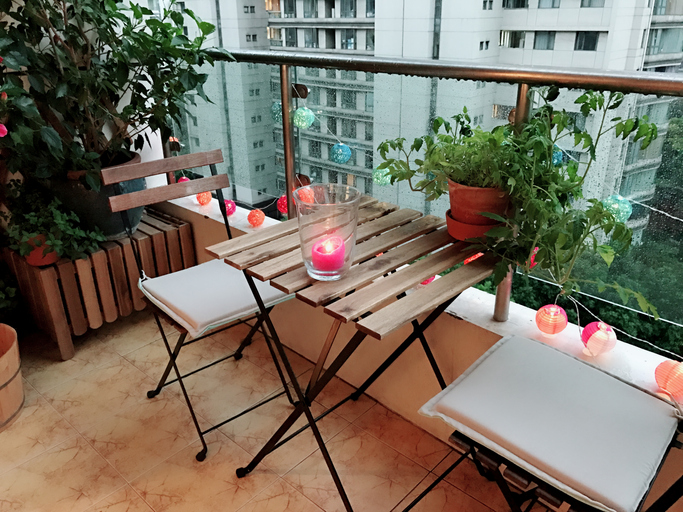 Lovely summer decoration for a terrace
