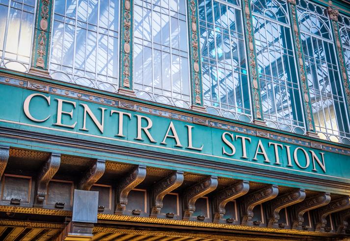 Glasgow's Central Station sign