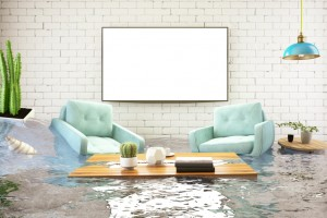 Insurance Concept. House Flooded