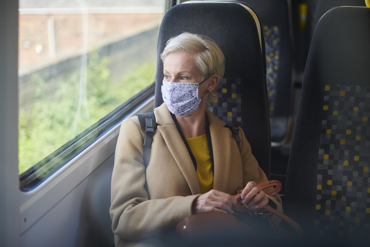 business travel with face masks