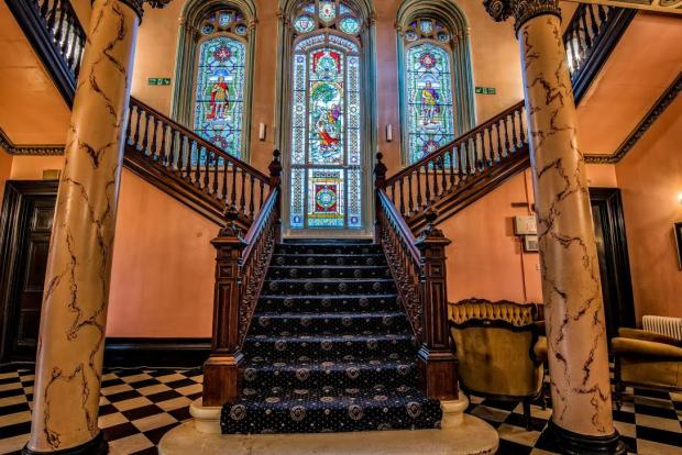 Yours for £1.7m, homely castle where stained glass windows beat double glazing every time