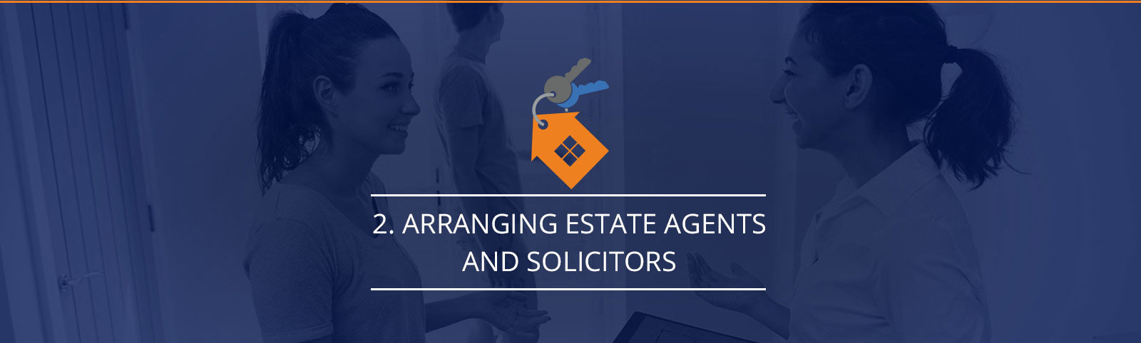 Arranging estate agents and solicitors
